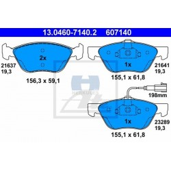 Zavorne ploščice ALFA Romeo 147, 156, 156 Sportwagon, GT, FIAT Bravo, Marea, Multipla, Punto sprednje